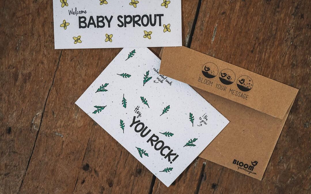 B(l)ooming business! BLOOM your message geeft ansichtkaarten en potloden een tweede leven